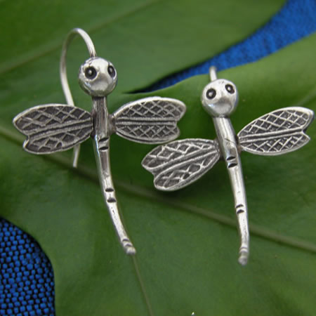 hilltribe dragonfly earring