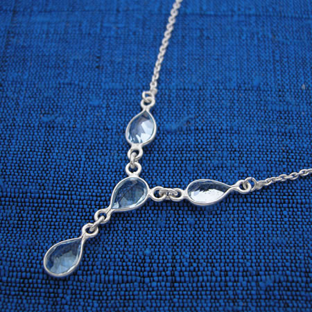 Topaz and silver necklace