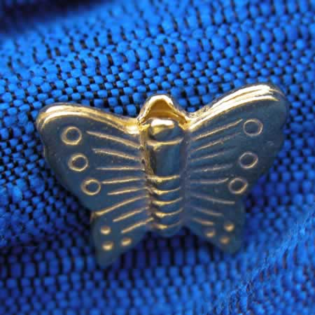 Gold Vermeil Over Sterling Silver Thai Butterfly Bead!