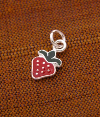 Sterling Silver Strawberry Charm!
