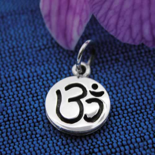 om coin silver pendant