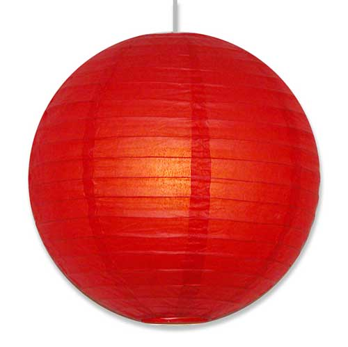 Red round paper lantern hanging paper lamp 16 wholesale red hanging paper lantern aloadofball Image collections