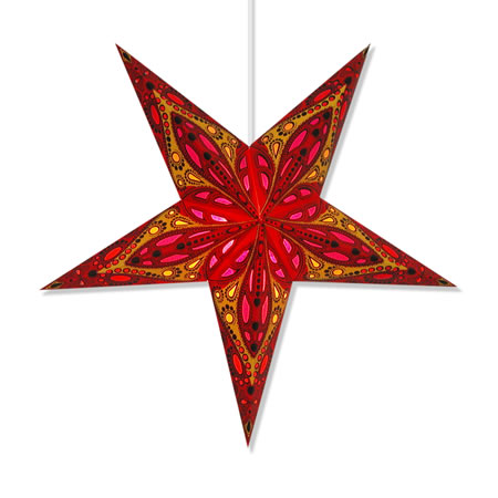 Cyclone paper star lantern for Paper star lamp