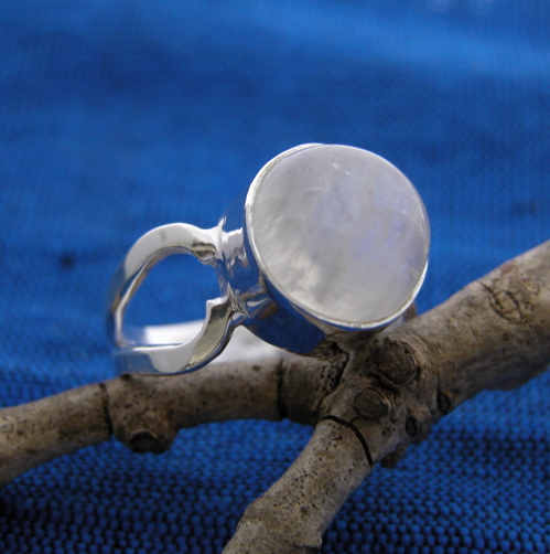 wholesale silver bella moonstone ring