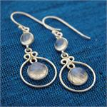 Wholesale Cabochon Stone And Sterling Silver Earring