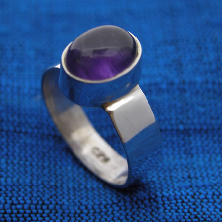 wholesale silver jewelry medium cab stone ring