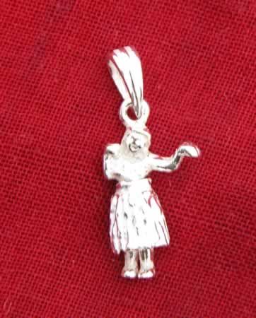 Sterling Silver Hula Charm!