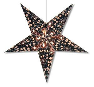 BLUE HEARTS AND FLOWERS STAR LAMP