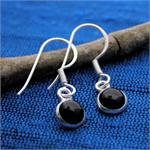gemstone silver earring