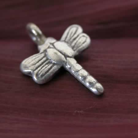 wholesale silver dragonfly charm