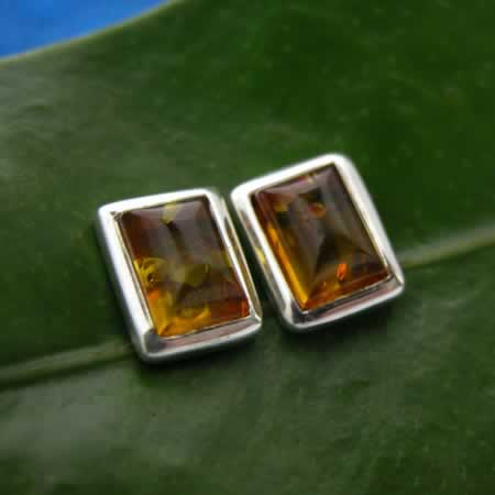 wholesale amber post earrings
