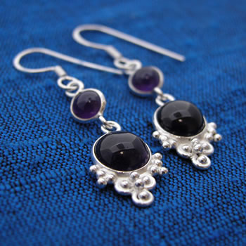Wholesale Sterling Silver Bezel-Set Earrings